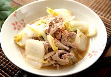 鍋で残った白菜を有効に。豚こまと白菜の甘辛味噌炒め【インスタ映えレシピ】